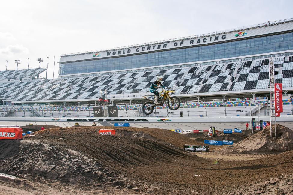 The 10th Annual Ricky Carmichael Daytona Supercross took place inside the World Center of Racing.