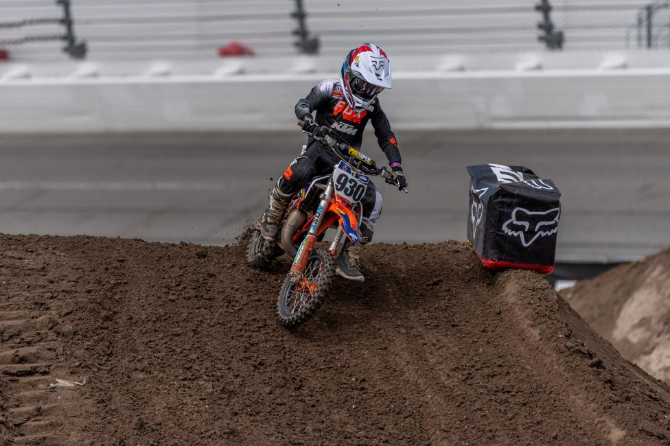 Seth Dennis (KTM) grabbed the holeshot and led flag to flag in the 65 (7-11) division.