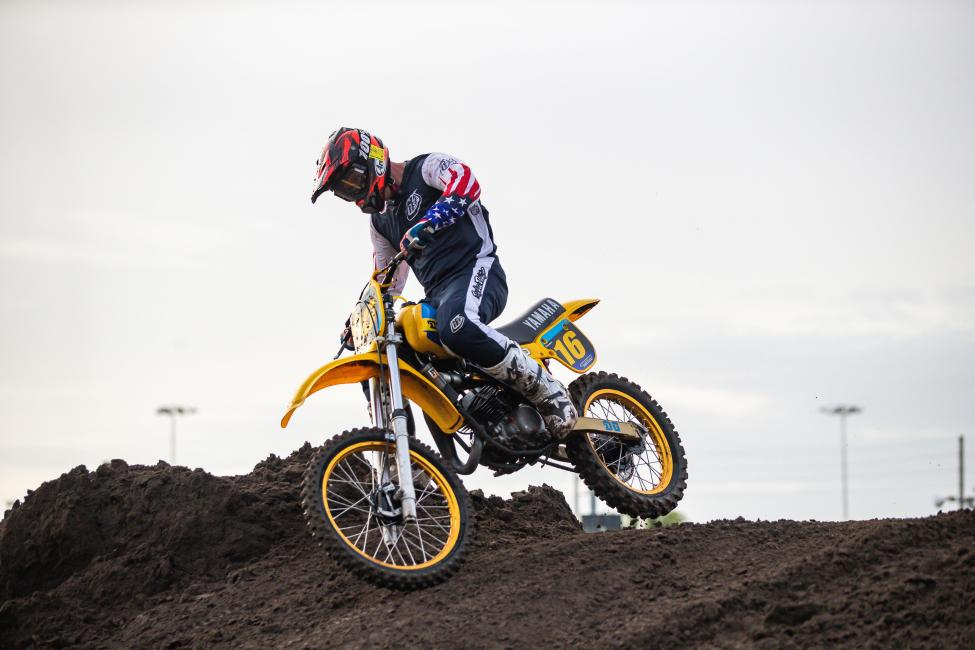 Jeff Stanton took home three overall wins this year during the Daytona Vintage Supercross.